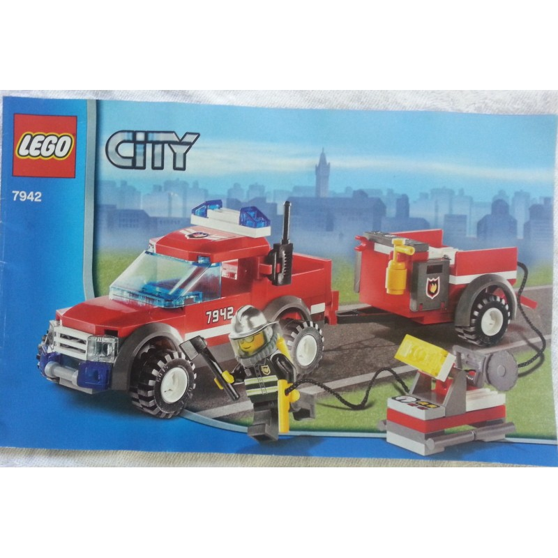 lego city 7942 voiture 4x4 avec remorque pompiers 2007 complet avec notice bricdyonisos. Black Bedroom Furniture Sets. Home Design Ideas