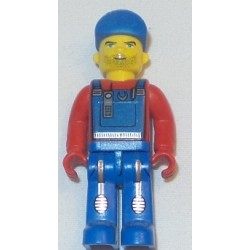 LEGO x272cx10 Creator Figure with Blue Overalls, Tools, and Blue Cap
