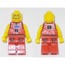 LEGO nba046 NBA Player, Number 8 (without Hair, 2003)