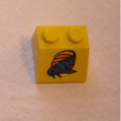 LEGO 3039px12 Slope Brick 45 2 x 2 with Blue Gooberfish Pattern