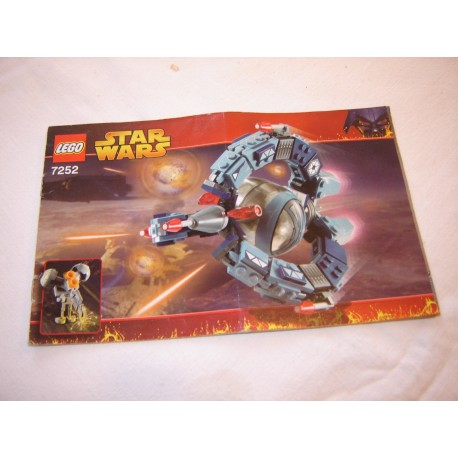 LEGO 7252 instructions (notice)  Droid Tri-Fighter (2005)