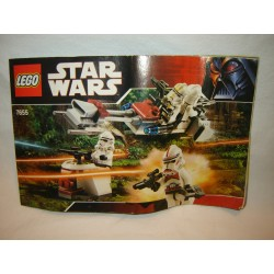 LEGO 7655 instructions (notice) Clone Troopers battle pack (2007)