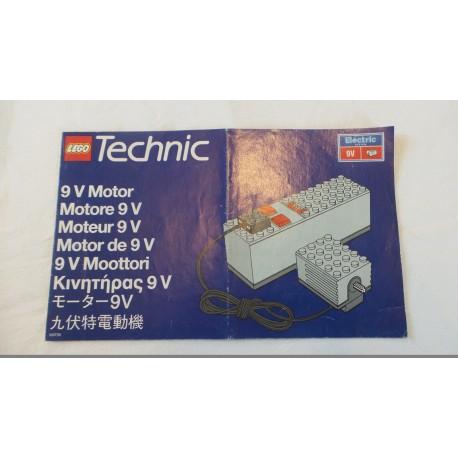 LEGO Technic Motor 9 V Notice 1993