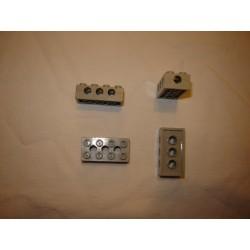 Légo 3709a Brick 2 x 4 with Top/Side/End Holes