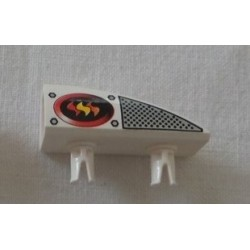 LEGO 30647px5 Technic 1 x 4 Side Flaring Intake with Two Pins and Red, Orange and Yellow Flames Left Pattern