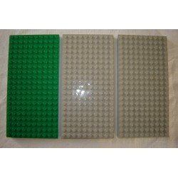 LEGO 700ed Brick 10 x 20 with Bottom Tubes in single row around edge, with '+' Cross Support