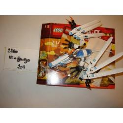 LEGO Ninjago 2260 Le dragon de glace 2011 COMPLET avec boite