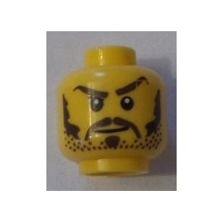 LEGO 3626bpx285 Minifig Head with Smirk, Black Hair, and Goatee Pattern