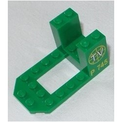 LEGO 30250px2 Bracket 4 x 7 x 3 with TV Logo and P745 Pattern