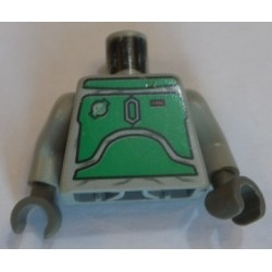 LEGO 973psb Minifig Torso with SW Blast Armor (Green Plates) Pattern