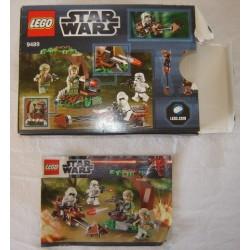 LEGO 9489 instructions and box Endor Rebel Trooper & Imperial Trooper Battle Pack (2012)