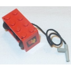 LEGO 4209p01c02 String Reel 2 x 4 x 2 Complete with String and Light Gray Hose Nozzle Simple