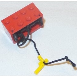 LEGO 4209c06 String Reel 2 x 4 x 2 Complete with String and Yellow Hose Nozzle Elaborate